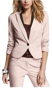 Express Ultimate Weave Peplum Jacket Powder Pink Blazer