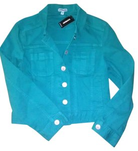 Express Denim Turquoise Womens Jean Jacket