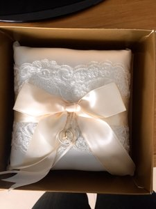 Beverly Clark Ivory French Lace Collection Ring Bearer Pillow