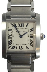 Cartier Ladies Cartier Tank Francaise Midsize Stainless Steel Analog Watch