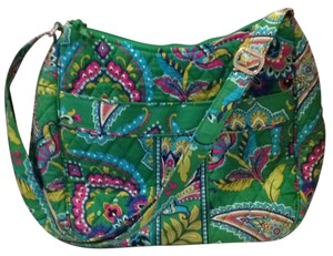 Vera Bradley Emerald Paisley Emerald Paisley Carryall Crossbody Convertible Shoulder Bag