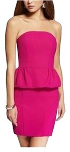 Express short dress Pink Peplum Tube on Tradesy