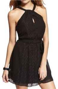 Express Lbd Halter Keyhole Dress