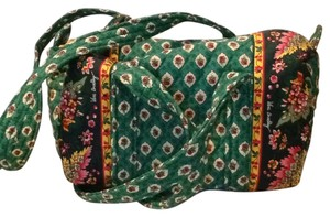 Vera Bradley Small Duffel Small Overnight Travel Retired Green Travel Bag