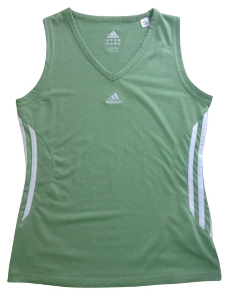 adidas green white tank top. Black Bedroom Furniture Sets. Home Design Ideas