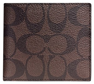 Coach Coach DOUBLE BILLFOLD WALLET IN SIGNATURE C Coated Canvas (COACH f75083): MSRP $150