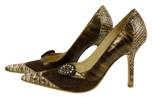 MS Shoe Designs Chocolate / Muliti Pumps