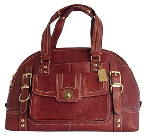 Coach Limited Edition Burgundy Leather Large Xl 11085 Shoulder Bag