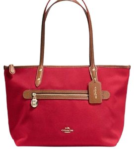 Coach Zip Top Tote in Classic Red