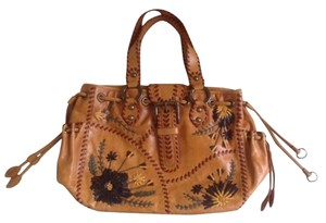 Isabella Fiore Satchel in Brown With Multi Color