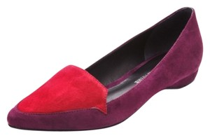 Pour La Victoire Pointed Toe Suede Valentine's Day Suede Suede Pointy Toe Red Flats