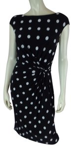 Ralph Lauren short dress Black & White Polka Dot Distressed on Tradesy
