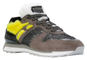 Hogan Sneakers Fur Faux Fur grey Athletic