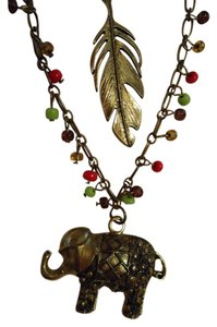 Red Camel Bohemian Elephant Necklace