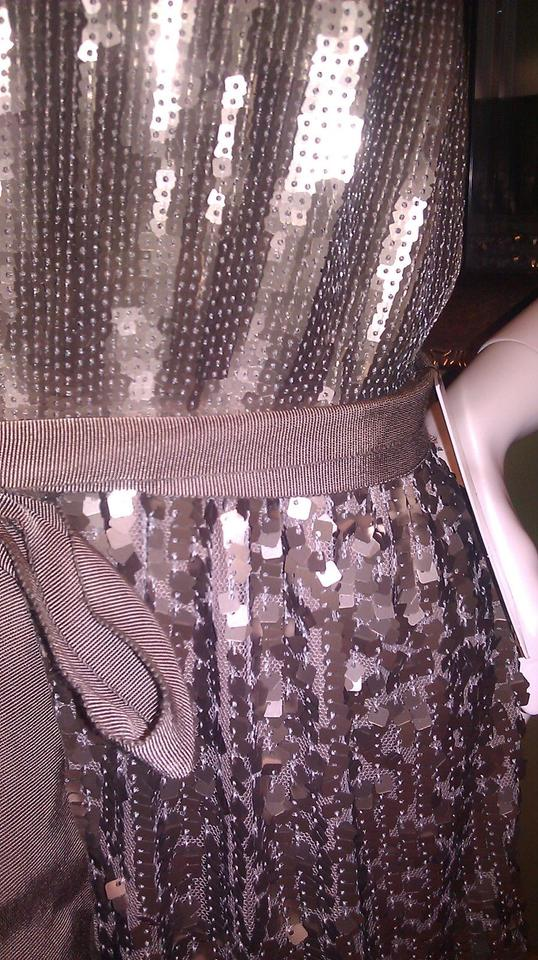 Express Taupe Sequin Cami Above Knee Cocktail Dress Size 10 (M ...