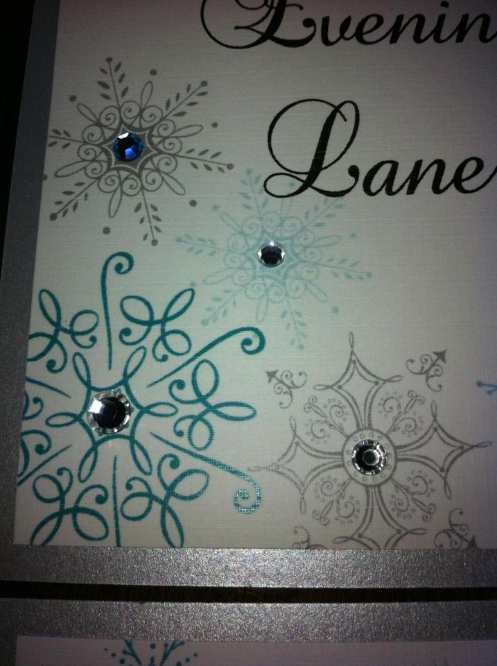 White Silver Tiffany Blue 21 Table Names with Winter Theme Reception  Decoration