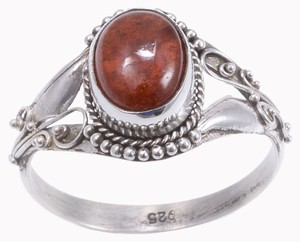 Unknown Ratnapura Hessonite Garnet Ring