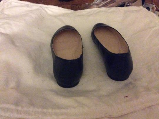 Nine West Leather Imported Padded Footbed Slip On Navy Flats