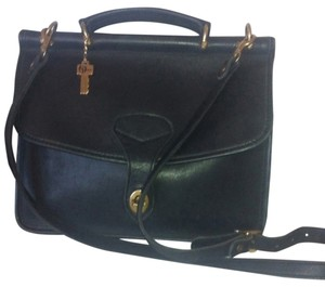 Jack Georges Leather Convertible Satchel Cross Body Bag