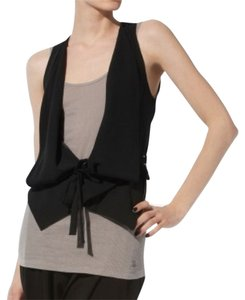 BCBGMAXAZRIA Draped Vest Structured Casual Black Blazer