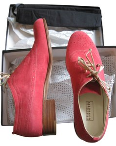 Fratelli Rossetti Oxford Brogue Lace Up Coral Flats