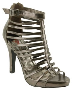 Red Circle Footwear Pewter Platforms