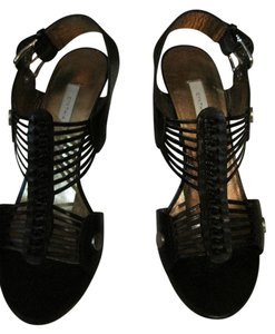 Twelfth St. by Cynthia Vincent Heels Gladiator Black Sandals