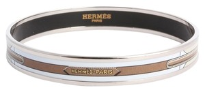 Herms Hermes,Narrow,Sangles,Enamel,Bangle