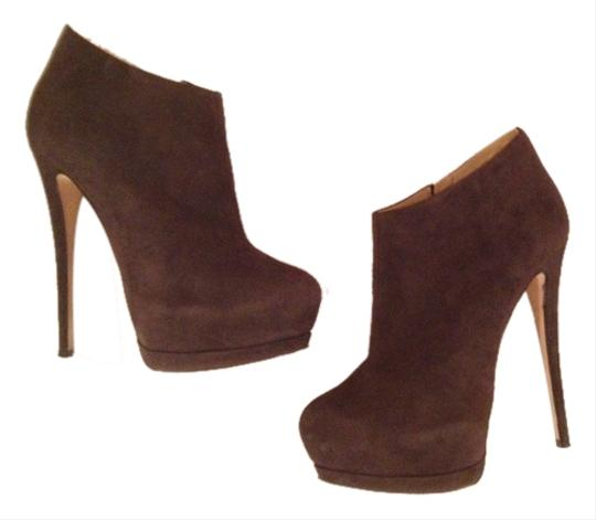 Giuseppe Zanotti Sky High Ankle Dark Grey/Mushroom/Brownish Suede Boots