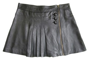 Juicy Couture Leather 4 Skirt Black