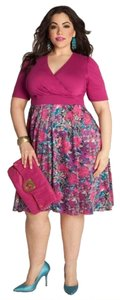 Igigi Empire Waist Floral Plus Plus Size Slimming Dress
