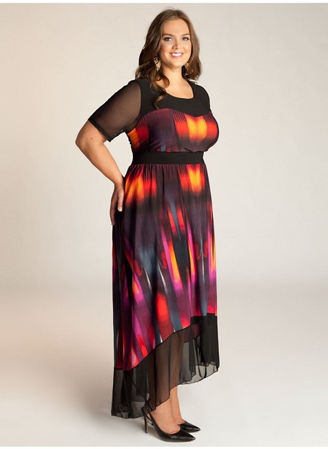 Maxi Dress by Igigi Maxi High-low Sheer Sleeves Empire Waist