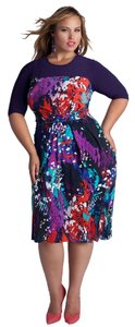 Igigi Purple Bold Colorful Dress
