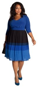 Igigi Color Block Blue And Black Dress