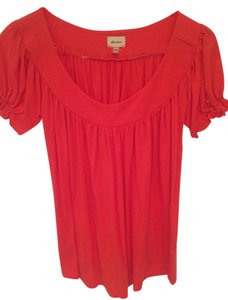Ella Moss Top Red Orange Corral