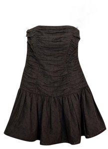 Betsey Johnson Mini Party Eyelet Eyelet Strapless Dress