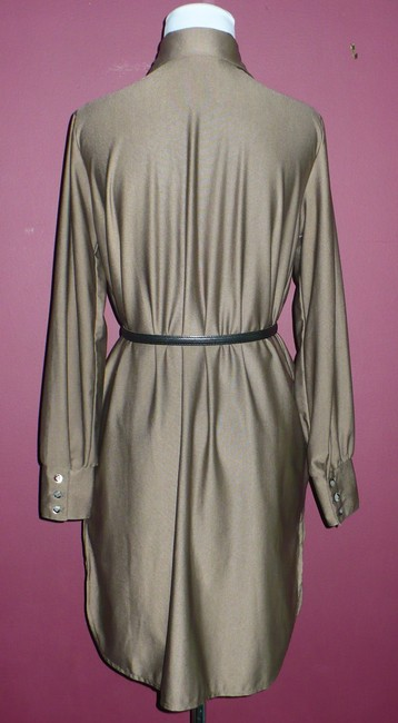 Lee Mar short dress Taupe Mushroom Vintage Silky Nylon 70's Qiana on Tradesy