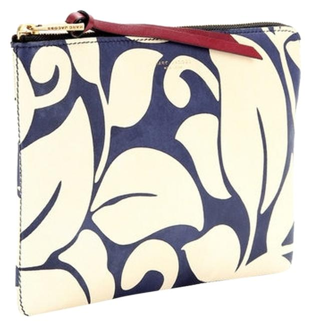 Item - Designer The Doubles Blue and Ivory Leather Clutch