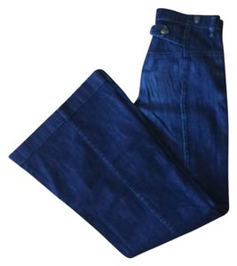 7 For All Mankind Flare Blue Trouser/Wide Leg Jeans