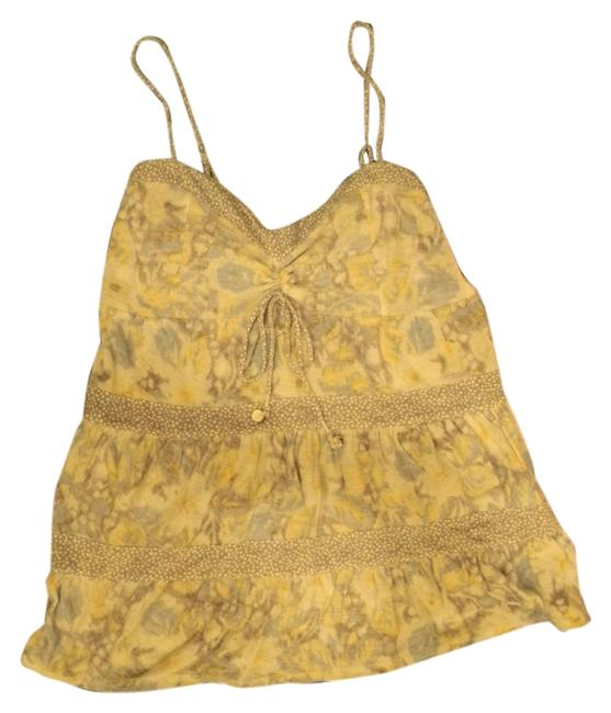 American Eagle Outfitters Top Yellow and Gray