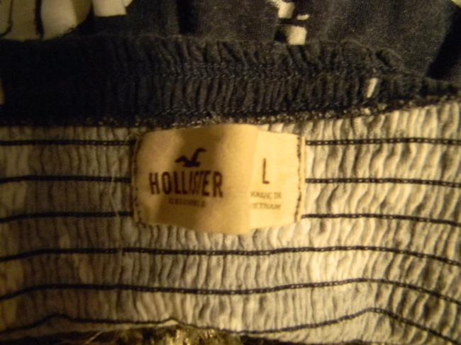 Hollister Top Dark blue and White