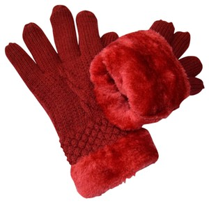 Other Double Thick Knit Faux Fur Lined Gloves Free Shipping