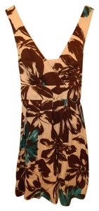 Maurices short dress Brown, White, and Blue on Tradesy