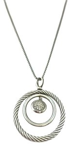 David Yurman David Yurman Sterling Silver Diamond Mobile Dangle Drop Necklace
