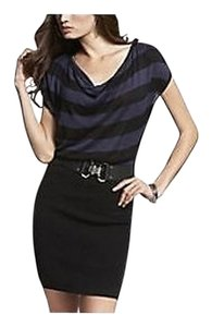 Express short dress Blue Black Striped Banded Sweater on Tradesy
