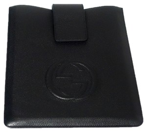 Gucci GUCCI 305986 Black Leather Soho Ipad Case Cover