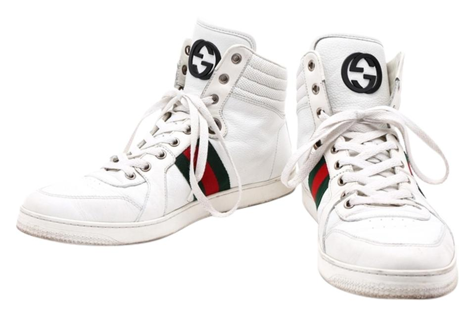 875eb2eea9d Gucci White Leather High-top Sneakers Size US 8 Regular (M, B) - Tradesy