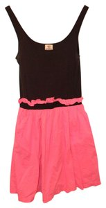 PINK short dress Pink and Black on Tradesy