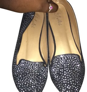 Yoki Studded Jewels Pointed Toe Black Flats