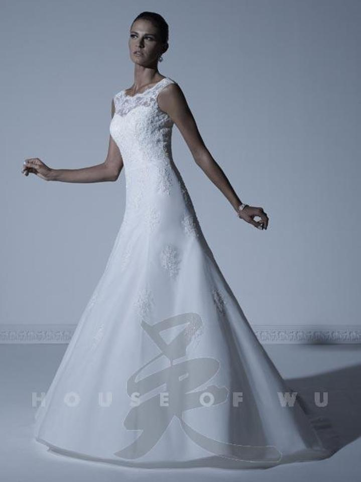 House of Wu Ivory Lace Applique Over Soft Tulle 18890 Traditional ...